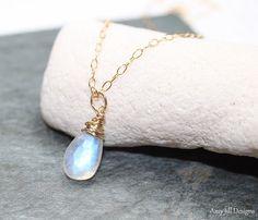 Moonstone 14k Gold Filled Necklace