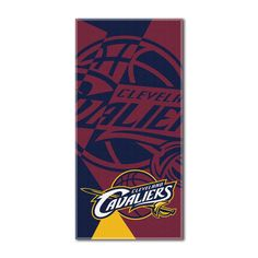 """Cavaliers National Basketball League, """"""""Puzzle"""""""" 34""""""""x 72"""""""" Over-sized Beach Towel"""