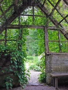 Rustic pergola-like structure with walls