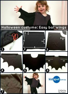 Did you hear that too? The collective sigh of parents when the kids start chatting about Halloween. How to decorte? The treats to buy? And of course, the all important costumes. We have one here that is simple to make and easy to wear! Superhero Halloween Costumes, Ghost Halloween Costume, Fete Halloween, Halloween Bats, Halloween Costumes For Kids, Costume Homemade, Fantasias Halloween, Halloween Disfraces, Bat Wings