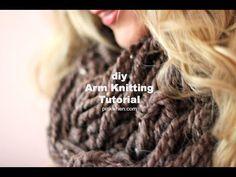 DIY Arm Knitting Scarves