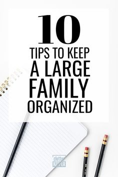 When you have a big family, the key to having a clean home is organization. Learn how to get started with these simple large family tips and ideas for awesome organization on everything from command centers to getting your kids to help. Large Family Organization, Calendar Organization, Clutter Organization, Playroom Organization, Home Organization Hacks, Family Organizer, Organizing Ideas, Organizing Life, Family Command Center