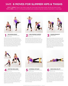Six Moves for Slimmer Hips and Thighs