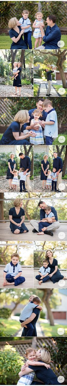 Blue, white, and yellow portrait outfits for family pictures... finally some great picture weather happened in Austin!