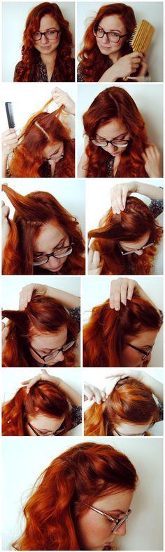 DIY 50s inspired casual hairdo #hairdo #50s