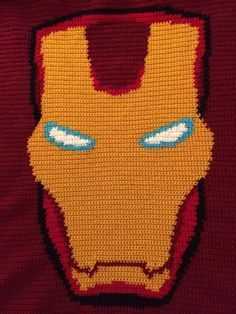 Iron Man Crochet Blanket.  Pattern from VictoriaRose.