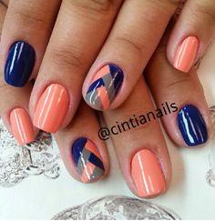 Pin on Nails Pin on Nails Short Nail Designs, Colorful Nail Designs, Acrylic Nail Designs, Nail Art Designs, Fingernail Designs, Nail Manicure, Diy Nails, Nail Polish, Fancy Nails