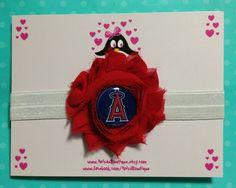 Anaheim Angels headband baseball headband baby by AnisasBowtique, $7.00