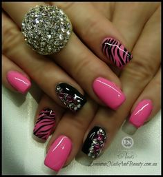 Black And Pink Nail Designs Tumblr Easy