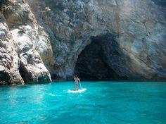 Sporades Sup - Exploring caves on Skopelos. #SUP #Skopelos #Greece