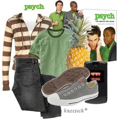 Love it!  The Shawn Spencer look created by kneesock on Polyvore