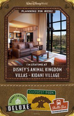 Walt Disney World Planning Pins: Disney's Animal Kingdom Villas - Kidani Village