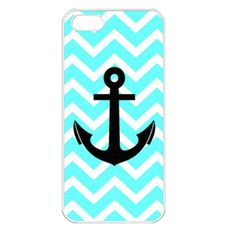 Tiffany Chevron Anchor Apple iPhone 5 Case (White) | bestiphone5caseshop - Accessories on ArtFire