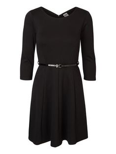 3/4-ÄRMELIG KURZKLEID, Black