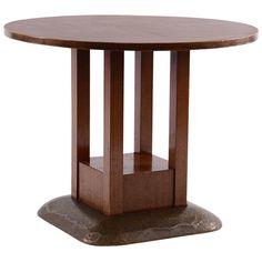 Round Josef Hoffmann Table from the Sanatorium Purkersdorf