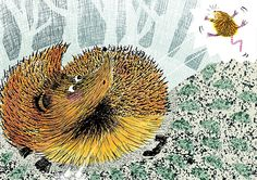 Anna Violet - But the Hedgehog Was Too Prickly!!  Mixed media