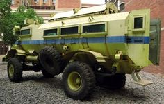 "bmashina: "" Casspir — Mine protected armored Transporter manufactured by South Africa. The cab and motor are so high, that at the death of the crew (2 people) and assault (up to 12) is practically..."