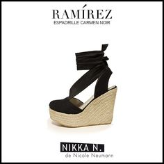 Espadrilles Ramirez Nikka verano 2015 modelo Carmen noir disponible en tienda Ramirez Peru 587 y en nuestro Showroom Humboldt 1550 of 111 #ramirez #nikka #crueltyfree #espadrilles #carmen #zapatos