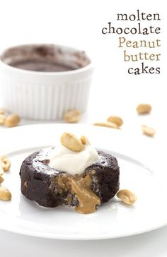 So ooey and gooey, this low carb Chocolate Peanut Butter Molten Lava Cake will blow your mind. You won't believe it's a keto sugar-free dessert! Updated recipe with a how-to video. I am having such fun going back and tweaking old recipes like this one. This keto molten lava cake has always been one of my favourite desserts. How can you go wrong with a warm peanut butter center oozing out all over you plate? Low Carb Chocolate Peanut Butter Molten Lava Cakes It's a little frighteni...