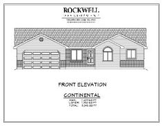 Continental House Plan!