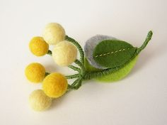Berry brooch yellow | Flickr - Photo Sharing!