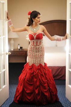 Punjabi reception gown