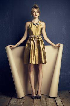 { gold dress }