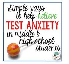 Testing can be stressful for students - here are some easy ways to reduce test stress in middle and high school students.