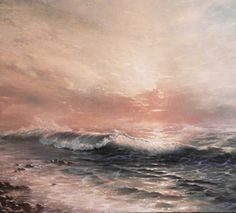 """Alexander Sarychev (Russe, b.1961) ~ """"Wave"""" (Détail), 2002 ~ Huile sur Toile."""