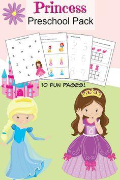 Princess Preschool Pack Cute Printables!