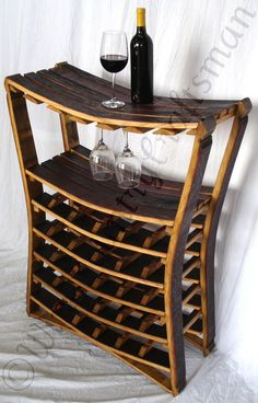 WINE RACK Collection- Chianti - Large Wine Barrel Wine Rack / Made from reclaimed Napa wine barrels - recycled! Barris, Wine Rack Plans, Barrel Projects, Man Projects, Wine Barrel Furniture, California Wine, Wine Cellar, Wine Barrels, Wine Storage