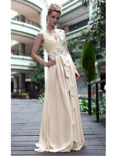 Satin Column V-neck Prom Dress 32602