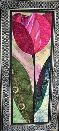 Untitled by Judy Witkin and Roberta Baker - Quilting Daily Small Quilts, Mini Quilts, Quilt Art, Art Quilting, Quilting Projects, Quilting Designs, Flower Quilts, Landscape Quilts, Quilted Wall Hangings