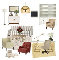 """""""Mum's Home Office"""" by silverlime2013 on Polyvore featuring interior, interiors, interior design, home, home decor, interior decorating, Jaipur, Pier 1 Imports, Home Decorators Collection and Selamat"""