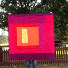 I love the vibrant colors in this quilt!  Star Flare, back | Flickr - Photo Sharing!  #modern #quilt