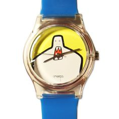 Boo! Watch Introducing the next watch of the Creeps series... Boo!  The watch face features Boo! and sits on a blue wristband.  The underside of the watch showcases the Creeps logo.  This is a limited edition item, get it before they're gone forever.