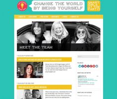 "What grabbed my attention for Amy Poehler's Smartgirls site was the use of light blue and continuous patterns as the background and the style of font. Both qualities are inviting:they are fun but not overdone. They don't take away from the information displayed. I would like to incorporate a funky type font in my site that is welcoming but not overdone, like is displayed here. And if I could do a lighter color background but a similar looking pattern that would make my website ""pop""."