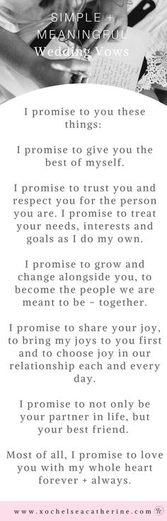 wedding vows.