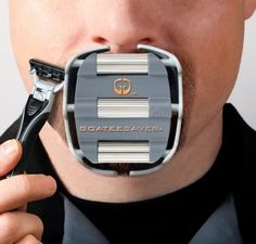 Goateesaver: The Goatee Shaving Template Would. - Goateesaver: The Goatee Shaving Template Would you like to shave your goatee quickly and evenly every morning? The GoateeSaver is an easily adjustable goatee shaving template that will revolutionize. Electronic Gadgets For Men, Mens Gadgets, Cool Gadgets, Cheap Gadgets, Latest Gadgets, Electronics Gadgets, Styles Barbiche, Hair Styles, Molde
