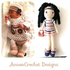 Baby Layette and Doll  By AnnooCrochet Designs
