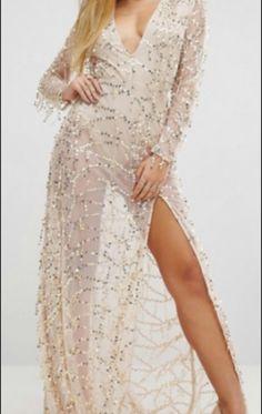 FOR SALE: Golden Sequined Evening Dress with Leg Slit / goldenes Paillettenkleid mit einem Schlitz am Bein Size: 34-36 Sale Price: 70 Euro  Buy it here: http://ift.tt/2jnNDgv  Photographer: ??? Please credit Model: ???? Please credit - http://ift.tt/1HQJd81