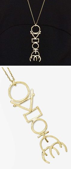 Totem necklace | hieroglyph-inspired | jewellery design