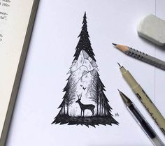 These wonderful black pen illustrations has been made by Alfred Basha who draw these sketches with black ink pen. Ink Illustrations, Art And Illustration, Ink Drawings, Cool Drawings, Drawing Tattoos, Alfred Basha, Desenho Tattoo, Nature Drawing, Wolf Tattoos