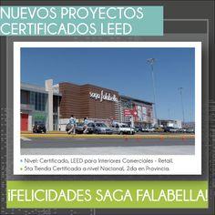 Felicitamos a nuestra empresa miembro #SagaFalabella por obtener la certificación LEED para otra de sus tiendas! Esta vez en Porongoche - Arequipa.  #NivelCertificado #GreenBuilding
