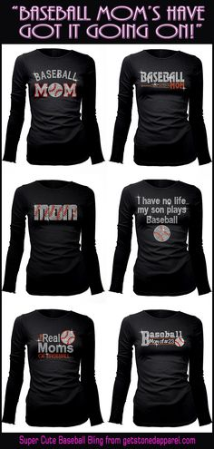 Bling for Baseball Moms! These Blingy T-Shirts are so darned cute! So many Baseball designs and some that can be customized.Such a great Company to work with! ♥ Also a great gift for a fanatic Baseball Mom!