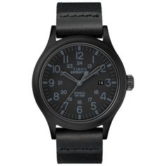 Shop for Timex Men's Expedition Scout 40 Black Leather/Nylon Strap Watch. Get free delivery On EVERYTHING* Overstock - Your Online Watches Store! Cool Watches, Watches For Men, Men's Watches, Analog Watches, Timex Watches, Cheap Watches, Wrist Watches, Watches Online, Fashion Watches