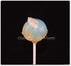 beach shell cake pop (much better picture this time)