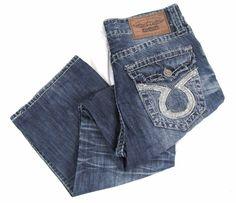 Big Star Pioneer Jeans 31 x 31 Big Stitch Flap Pocket Boot Cut Distressed Denim #BigStar #BootCut