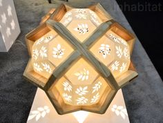 Sharpe's Hedra Lamp, Storyboard Furniture, reclaimed wood, green lighting, eco-friendly lighting