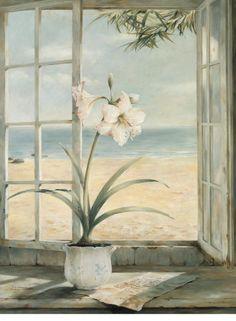 "Ocean Amaryllis by Fabrice de Villeneuve. (On my board ""Window View"". Irit Volgel)."